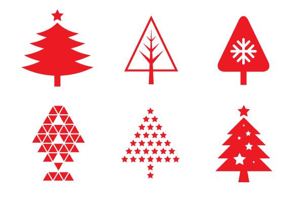 クリスマスツリーのアイコン80個セット