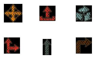 楽しい手描き風の矢印アイコンセット