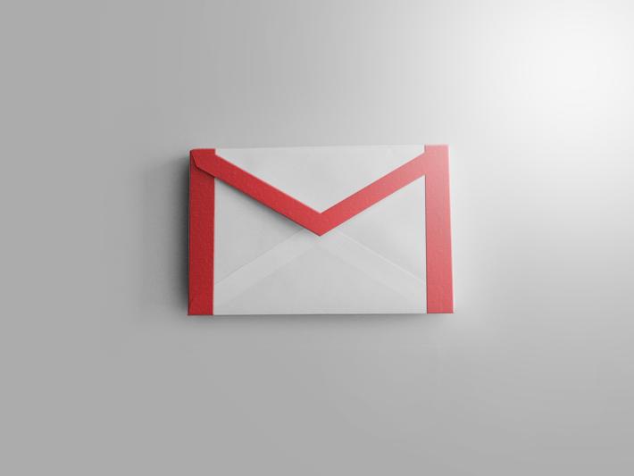 写真をベースに作られたリアルなGmailのアイコン