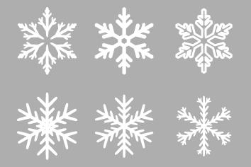 雪の結晶のアイコン20個セット