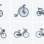 自転車、バイクのアイコン20個セット