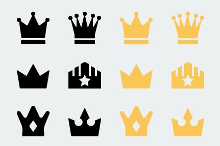 王冠のアイコンセット