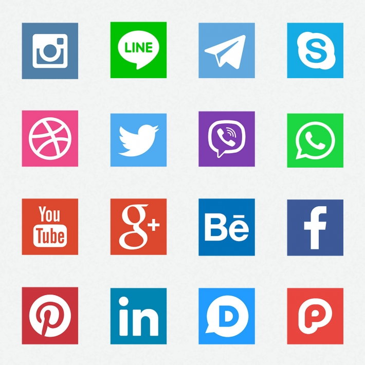 LINE、Instagramなどのソーシャルアイコンセット