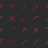 斧や剣など武器のアイコン20個セット