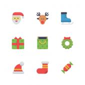 かわいらしいクリスマスのアイコン25個セット